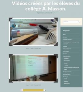 Collège André Masson de Saint-Loup-sur-Semouse – Projet créations de vidéos
