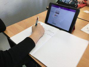 Cahier de cours numérique au collège Vauban de Belfort