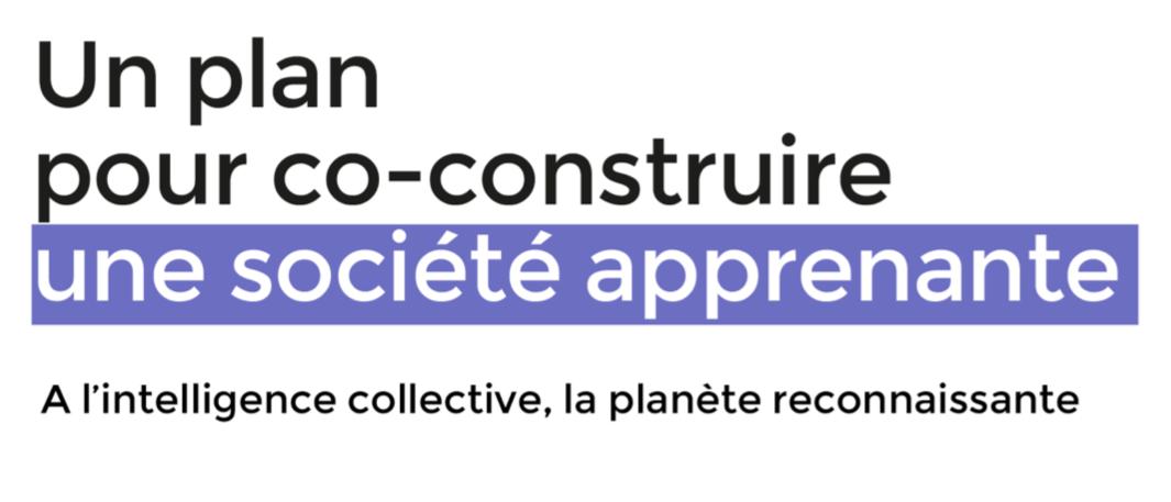 """Rapport Taddéi : """"Un plan pour co-construire une société apprenante"""""""