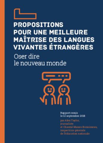 Propositions pour une meilleure maîtrise des langues étrangères – Oser dire le nouveau monde