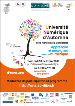 Université Numérique d'Automne – Mercredi 10 octobre 2018 – Dijon