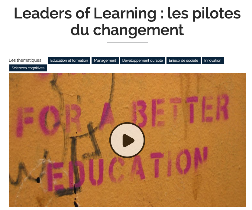 "MOOC ""Leaders of Learning : les pilotes du changement"""
