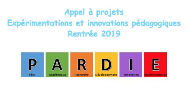 Appel à projets PARDIE – Année 2019-2020