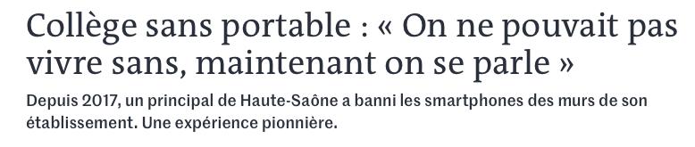 """Quand """"Le Monde"""" parle de l'un des nombreux projets menés au collège de Faucogney-et-la-Mer"""