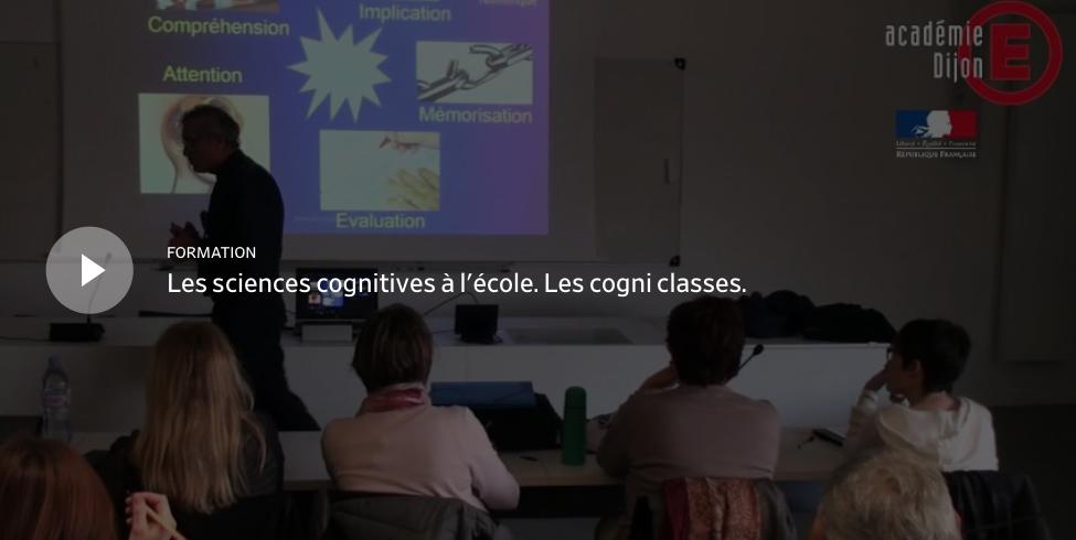 """Conférence de Jean-Luc Berthier : """"Les sciences cognitives à l'école. Les cogni-classes"""""""
