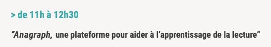 """#FuneIT – Conférence de Jérôme Riou : """"Anagraph, une plateforme pour aider à l'apprentissage de la lecture"""""""