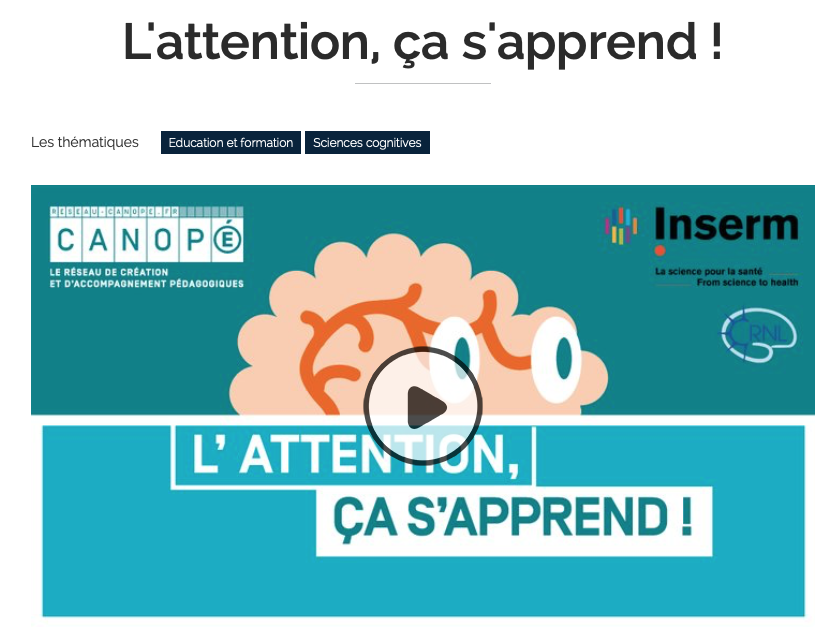 "MOOC ""L'attention, ça s'apprend !"""