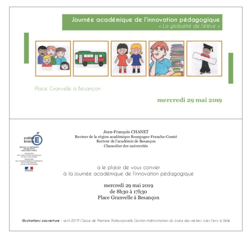 Journée académique de l'innovation – 29 mai 2019 – Programme