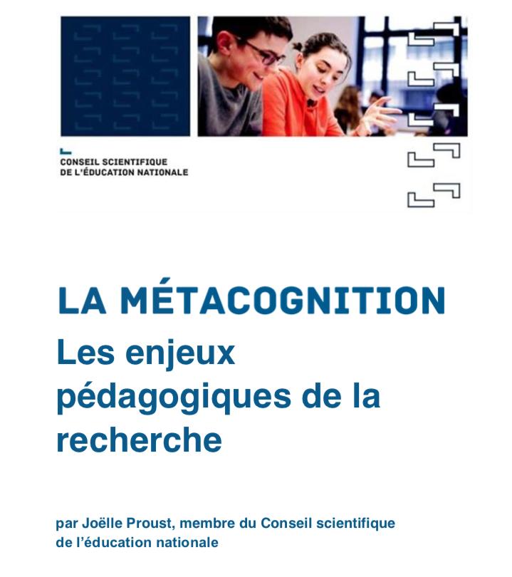 La métacognition – Les enjeux pédagogiques de la recherche
