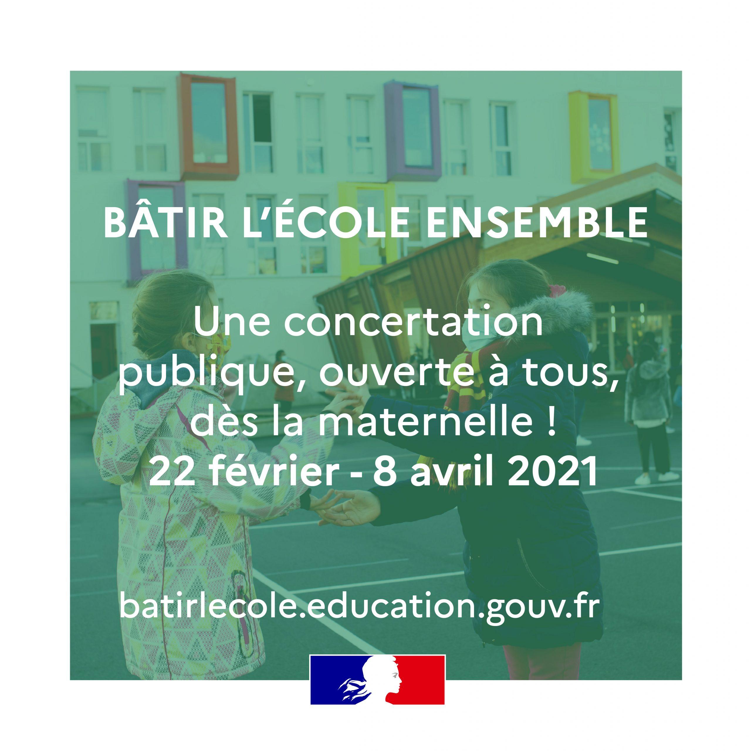 Concertation publique Bâtir l'Ecole ensemble