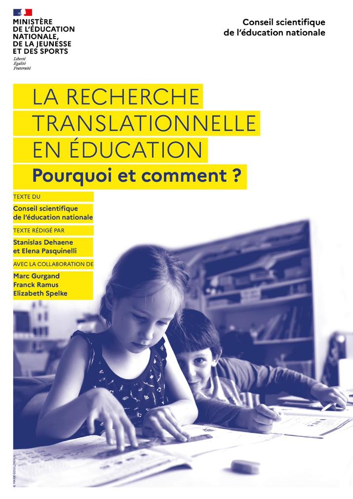La recherche translationnelle en éducation – Pourquoi et comment ?